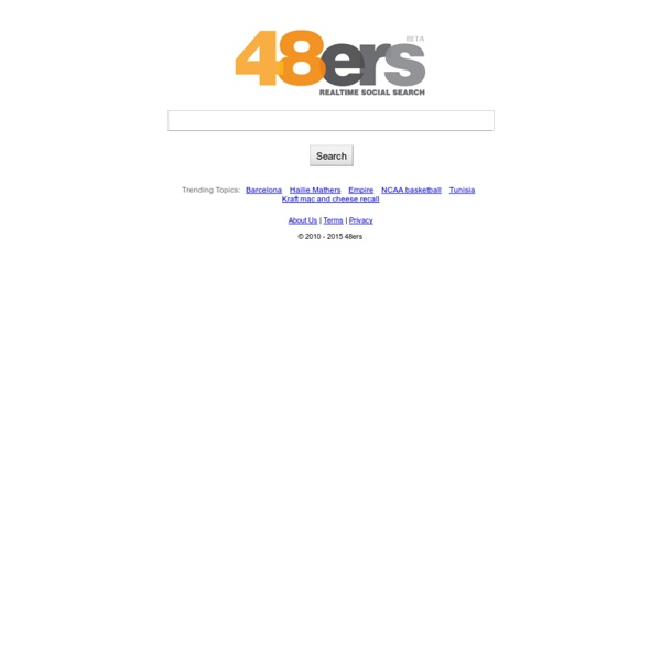 48ers - Realtime Social Search