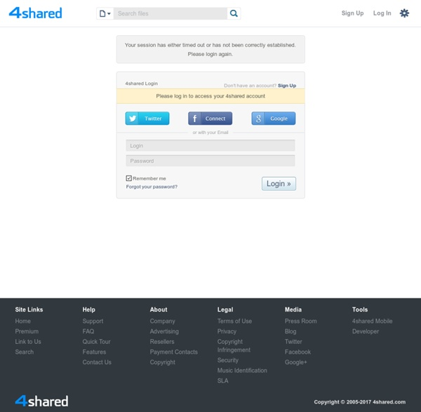 Free file sharing and storage - Login