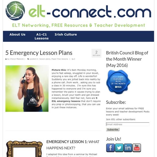 5 ESL Emergency Lessons