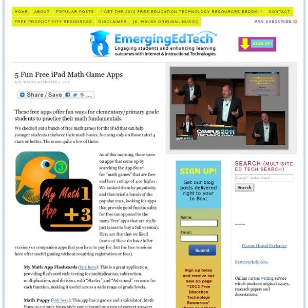 5 Fun Free iPad Math Game Apps