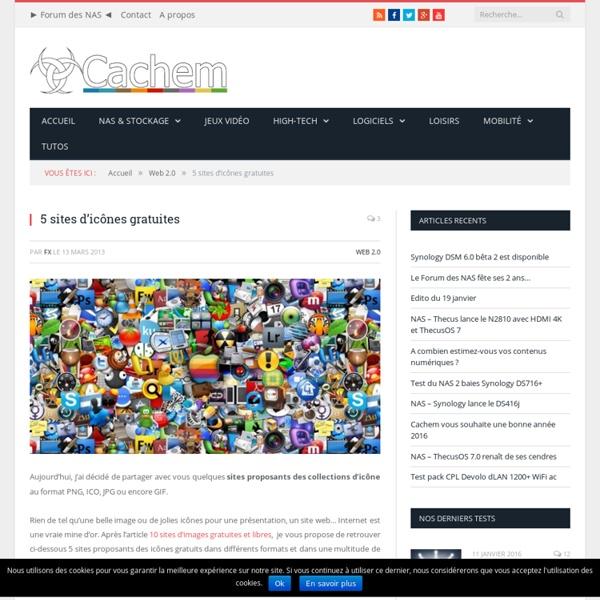 5 sites d'icônes gratuits