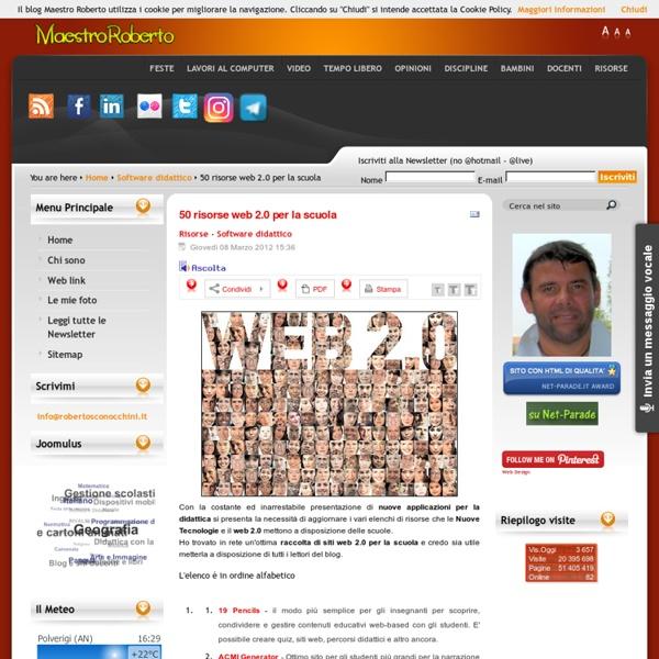 50 risorse web 2.0 per la scuola