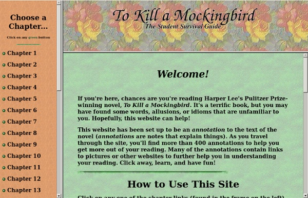 The TO KILL A MOCKINGBIRD Student Survival Guide