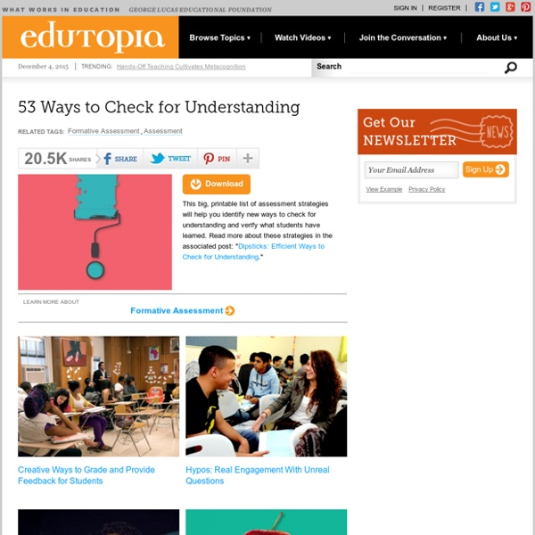 53 Ways to Check for Understanding
