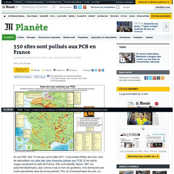 550 sites sont pollués aux PCB en France