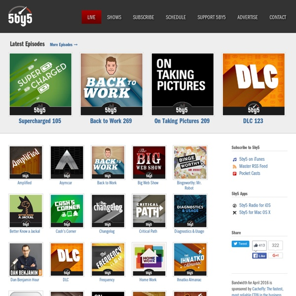 5by5 - Broadcasts for Geeks, Designers, Developers, and Entrepreneurs