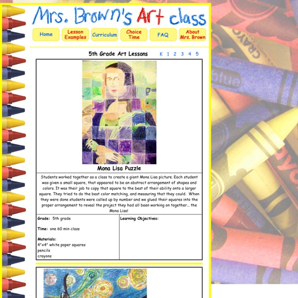 5th Grade Art with Mrs. Brown