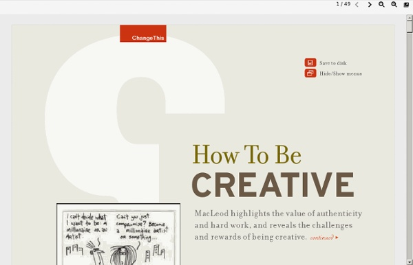 Changethis.com/manifesto/6.HowToBeCreative/pdf/6.HowToBeCreative