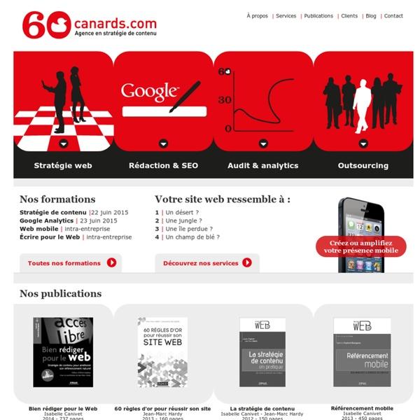 Le site des spécialistes de l'écriture web, depuis 2001