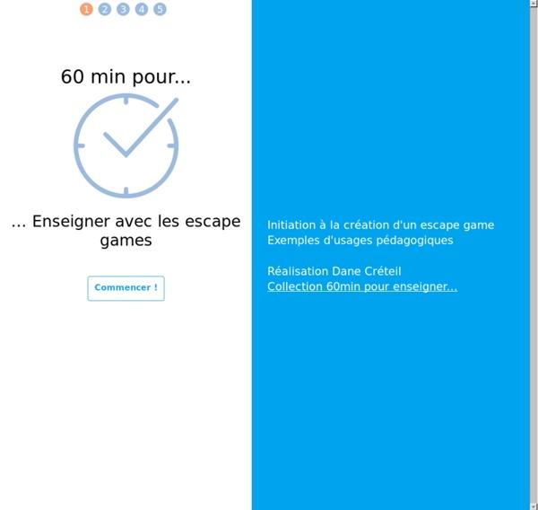 60min pour enseigner avec les escape games
