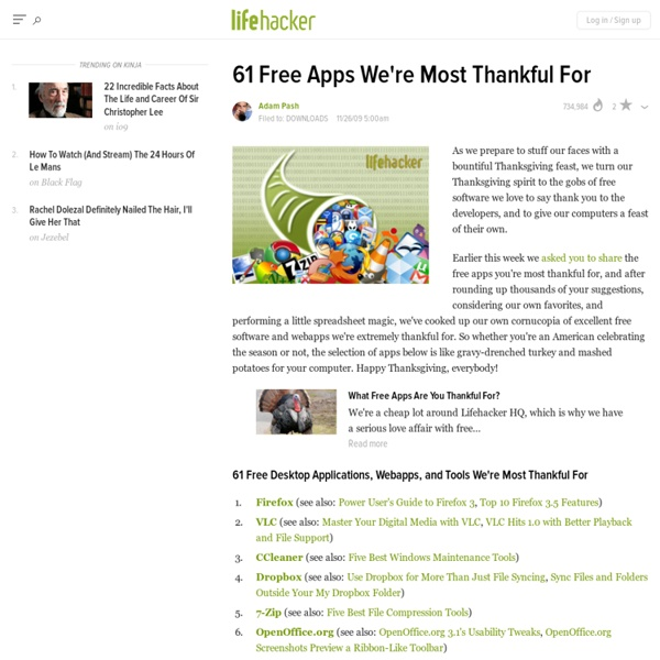61 Free Apps We're Most Thankful For - Thanksgiving - Lifehacker