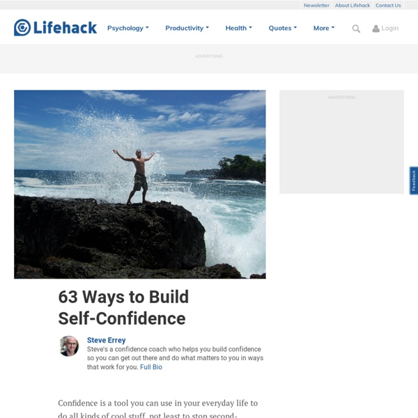 63 Ways to Build Self-Confidence