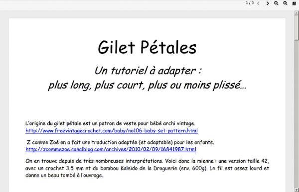 Gilet pétale Corrigé - 68598967