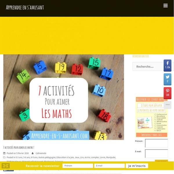 7 activités pour aimer les maths