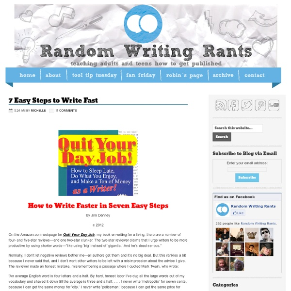 7 Easy Steps to Write Fast