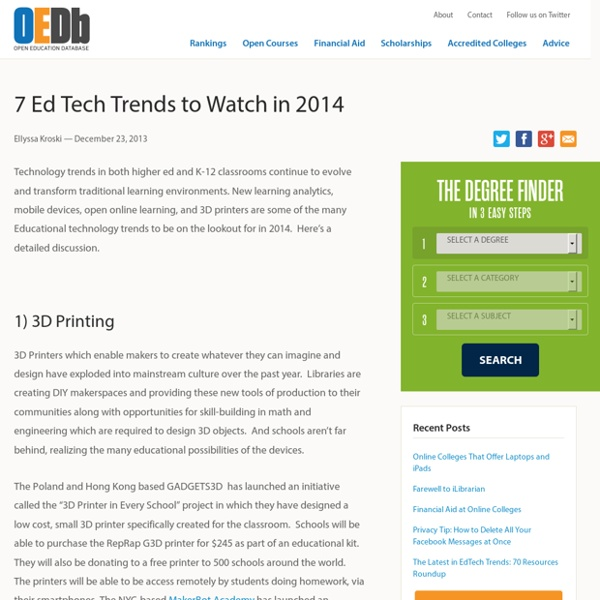 7 Ed Tech Trends to Watch in 2014