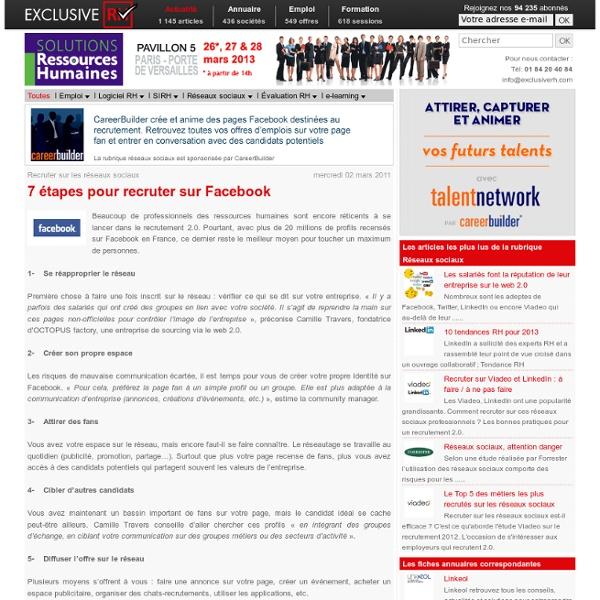 7 étapes pour recruter sur Facebook
