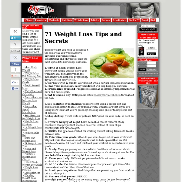 71 Weight Loss Tips and Secrets