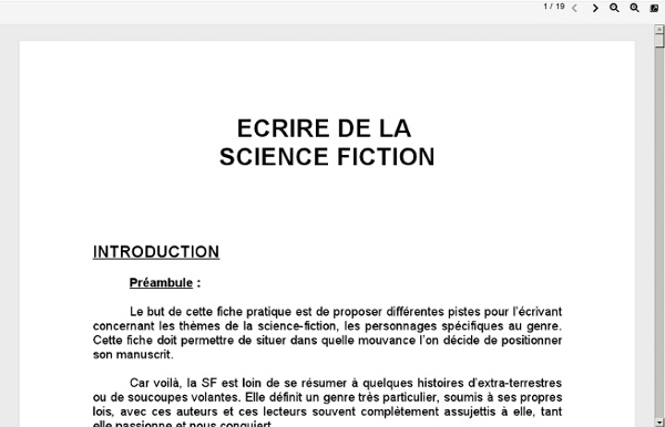 Ecrire de la Science Fiction