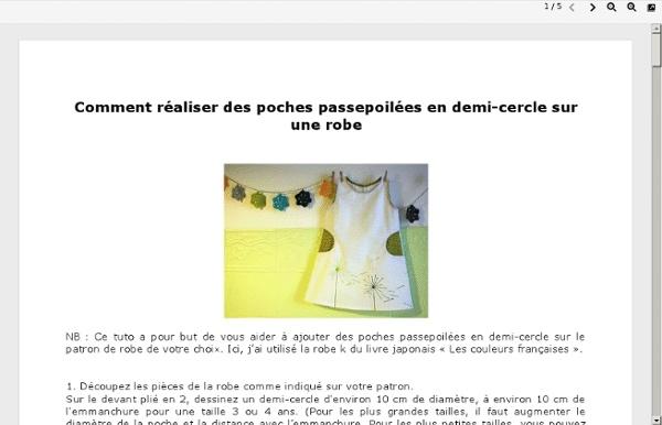 Comment réaliser des poches passepoilées en demi-cercle sur une robe