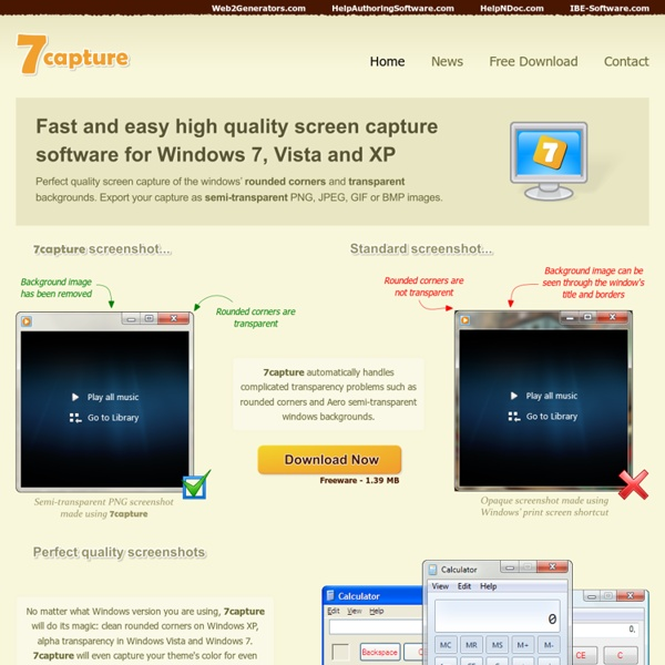 High quality screen capture software for Windows 7 ...
