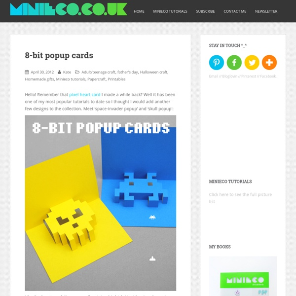 Halloween Pop Up Cards Templates.8 Bit Popup Cards Pearltrees