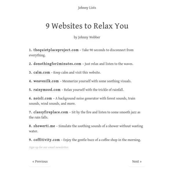 9 Websites to Relax You