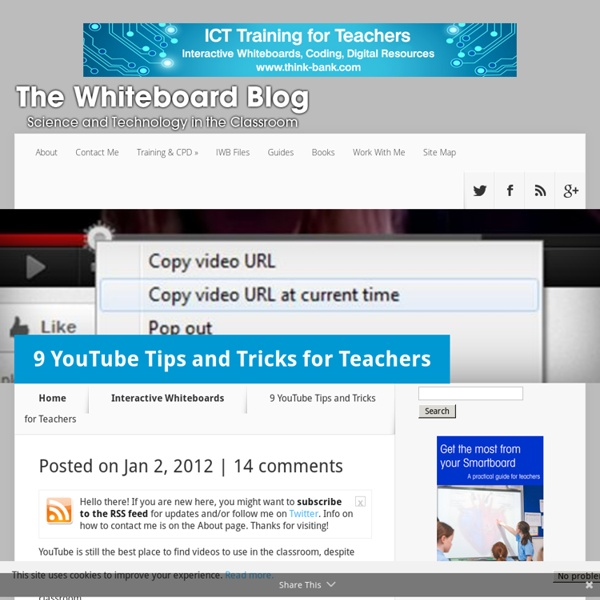 9 YouTube Tips and Tricks for Teachers