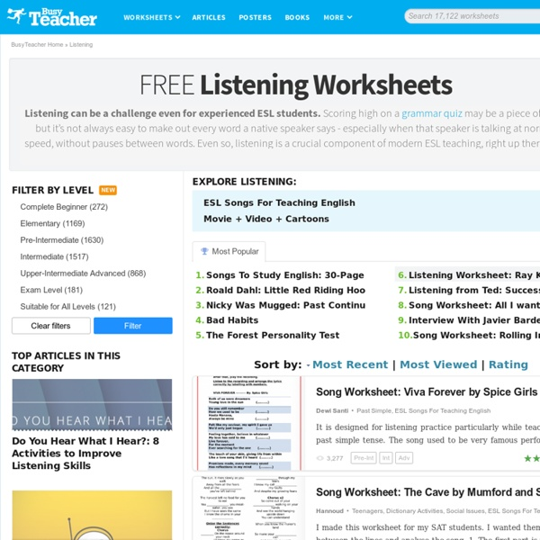 1412 FREE Listening Worksheets