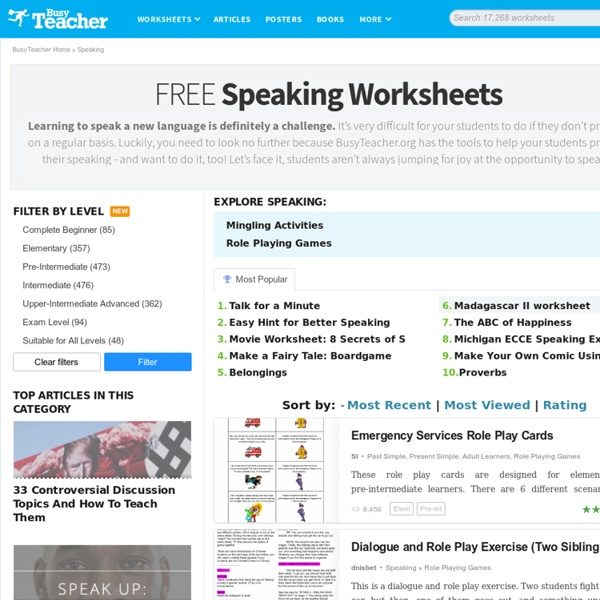 926 FREE Speaking Worksheets