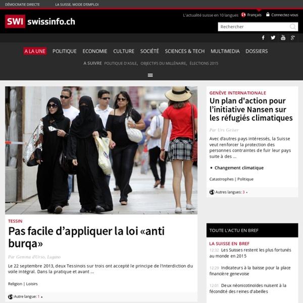 Plateforme suisse d'informations - Nouvelles, radio, téléjournal