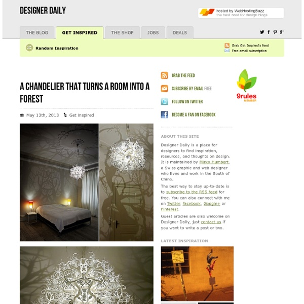 A chandelier that turns a room into a forest
