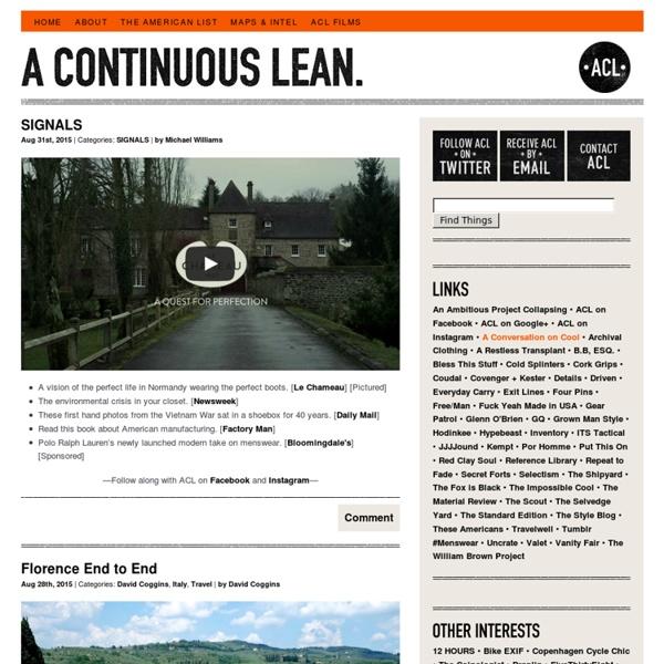A Continuous Lean.