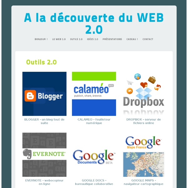 A la découverte du WEB 2.0 › Outils 2.0
