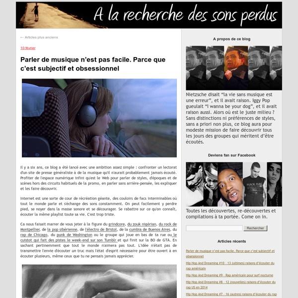 A la recherche des sons perdus - Blog LeMonde.fr