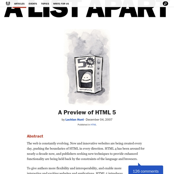 A Preview of HTML 5
