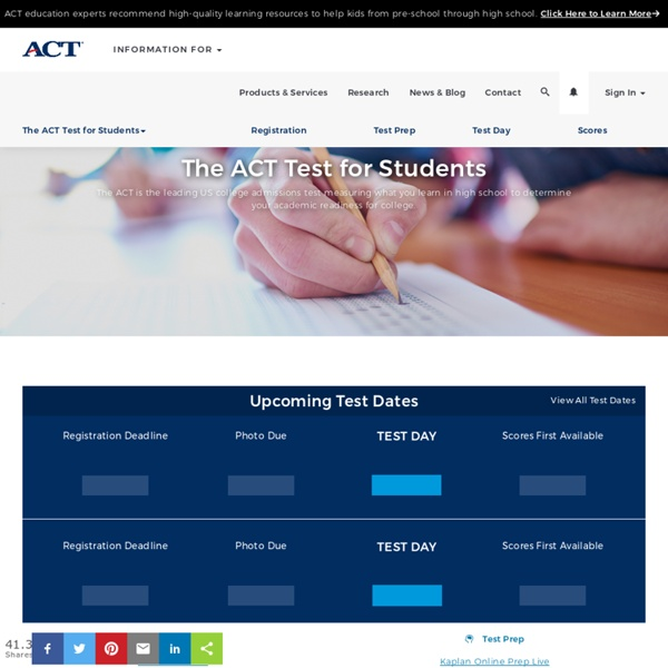 A Student Site for ACT Test Takers