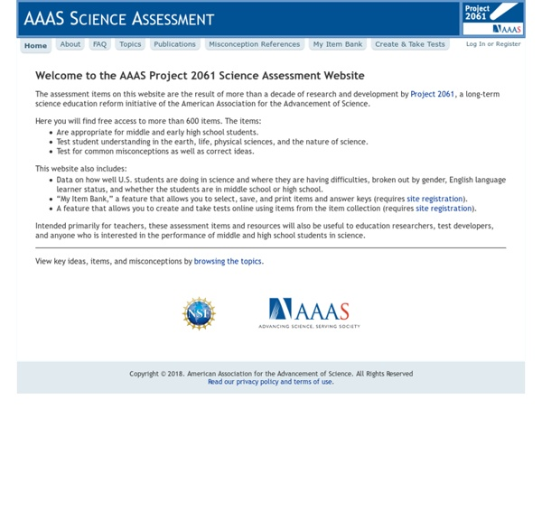 AAAS Science Assessment ~ Home