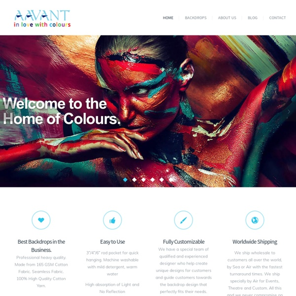 Aavant - The Home of Muslin Studio Backdrops, Theatre Backdrops and Event Backdrops