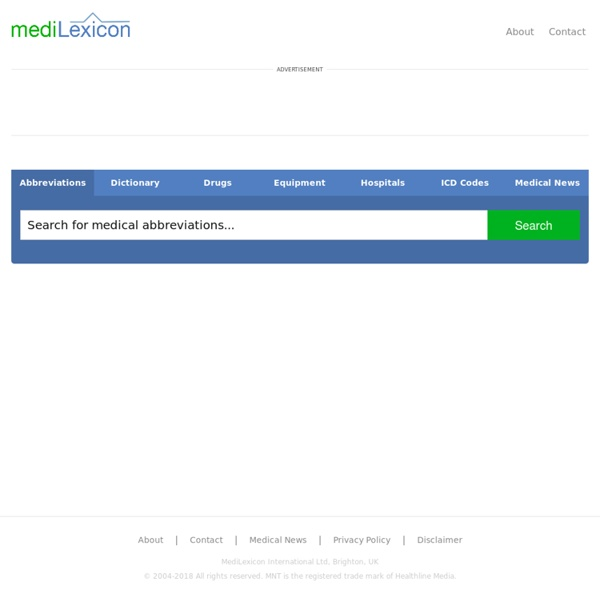 Medical Dictionary, Medical Abbreviations and Other Search Engines - MediLexicon