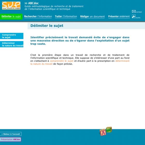 ABCdoc - Délimiter le sujet