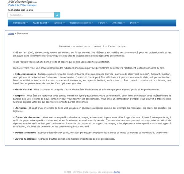 ABCelectronique, portail de l'électronique