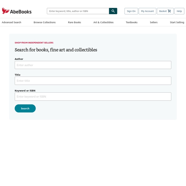 AbeBooks Official Site - New & Used Books, Textbooks, & Rare Books