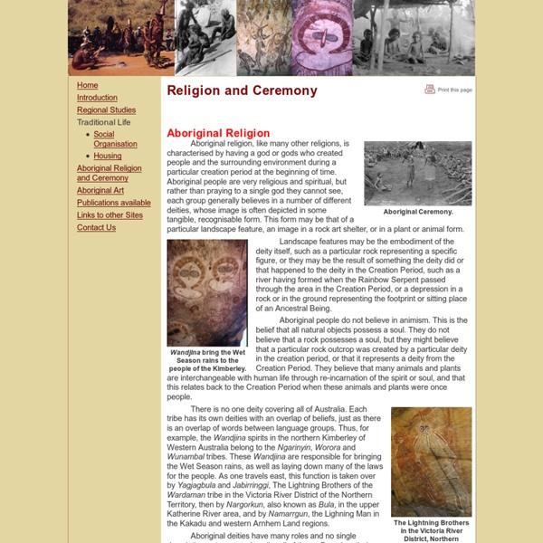 Aboriginal Culture - Aboriginal Religion and Ceremony