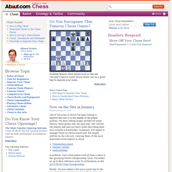 About Chess - Chess Instruction, Chess Games, Chess Tips, Learn to Play Chess, How to Play Chess