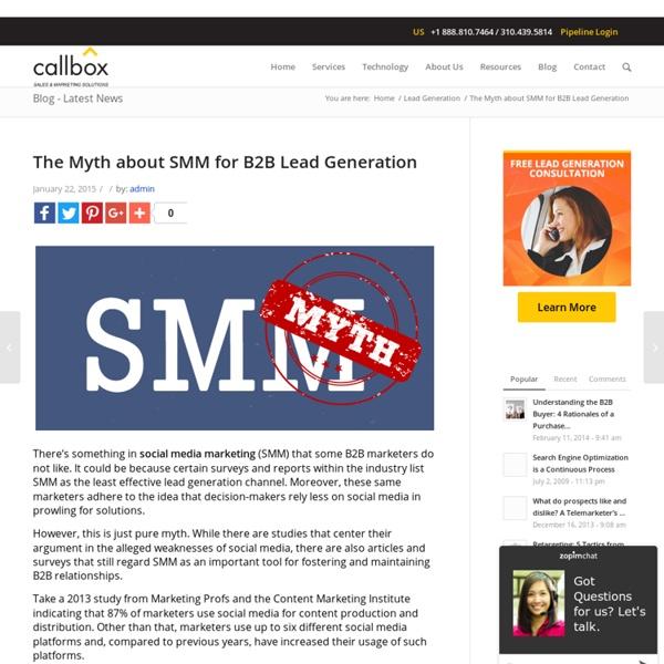The Myth about SMM for B2B Lead Generation - B2B Lead Generation Australia
