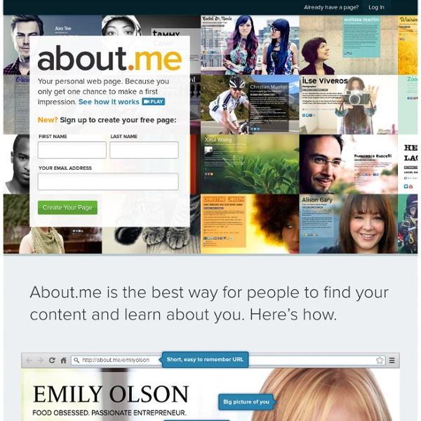 Welcome to about.me (about dot me)