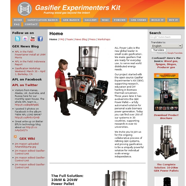 About Us - GEK Gasifier