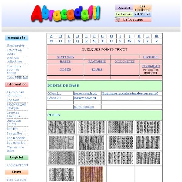 Le site web du tricot ! : pointstricot