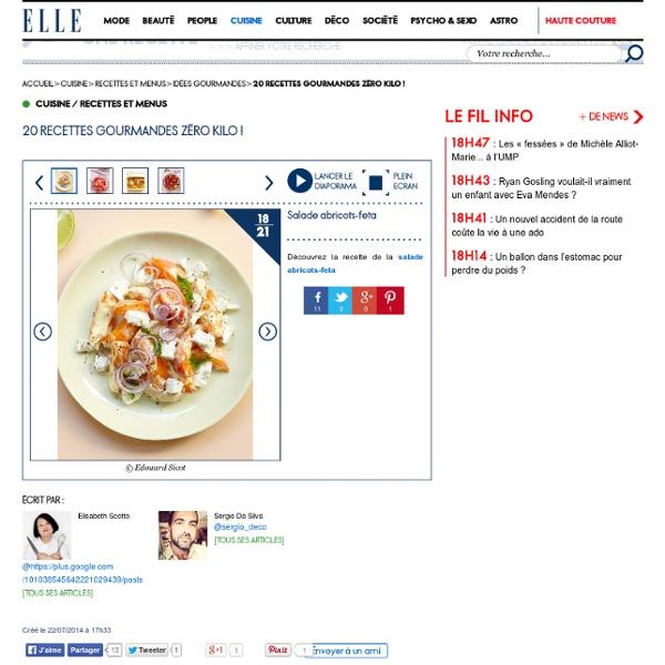 Salade abricots-feta - 20 recettes gourmandes zéro kilo !